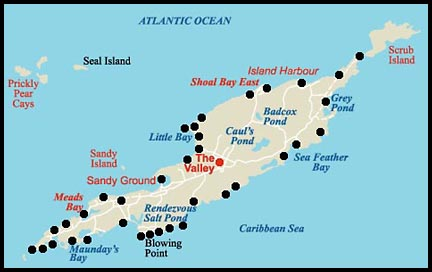 Anguilla Map - Caribbean anguilla map